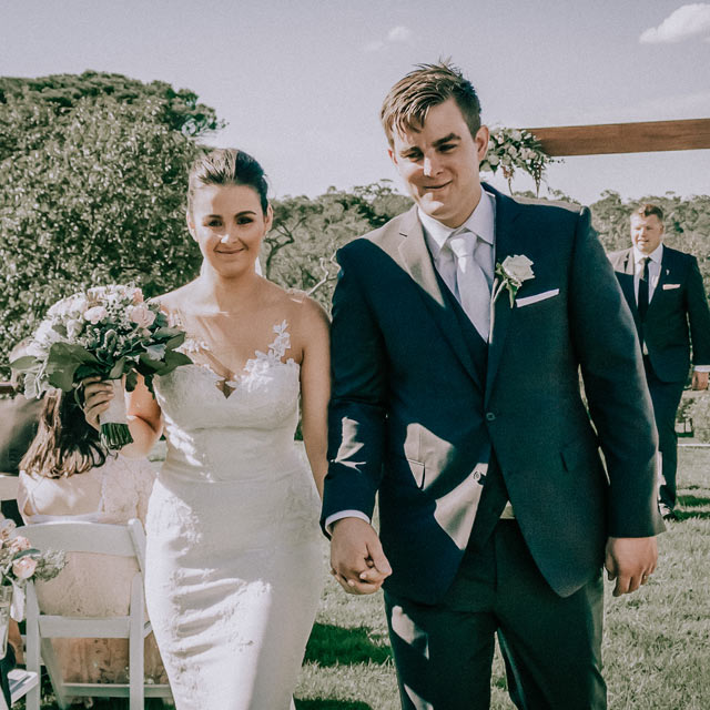 Candid moment of wedding ceremony in Morning peninsula Homestead mt Martha