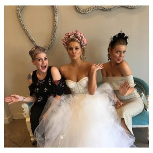 Melbourne bridal party pose for their hair and makeup session before their weddings