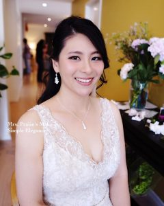 Hong Kong makeup artists in Australia showing her bridal makeup work
