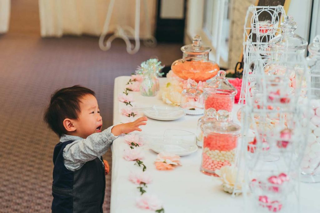 Candy buffet in Bram Leigh Wedding reception in Melbourne 2017 taken by Black Avenue Productions
