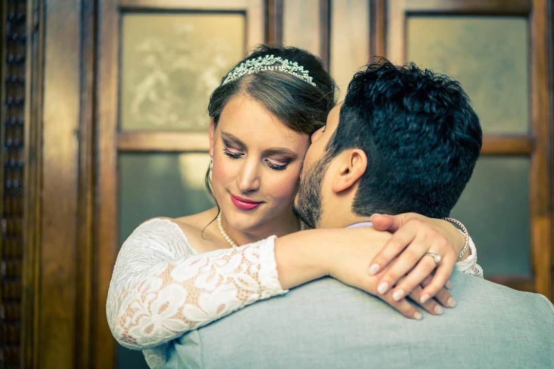 elegant wedding photo in fairy tale style and edited at Victorian Marriage Registry