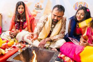 family celebrating an Indian traditional wedding ceremony in Melbourne