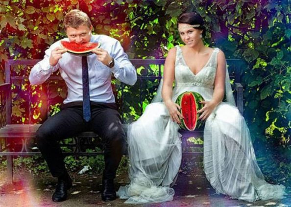 the most ugliest wedding photo from Russia
