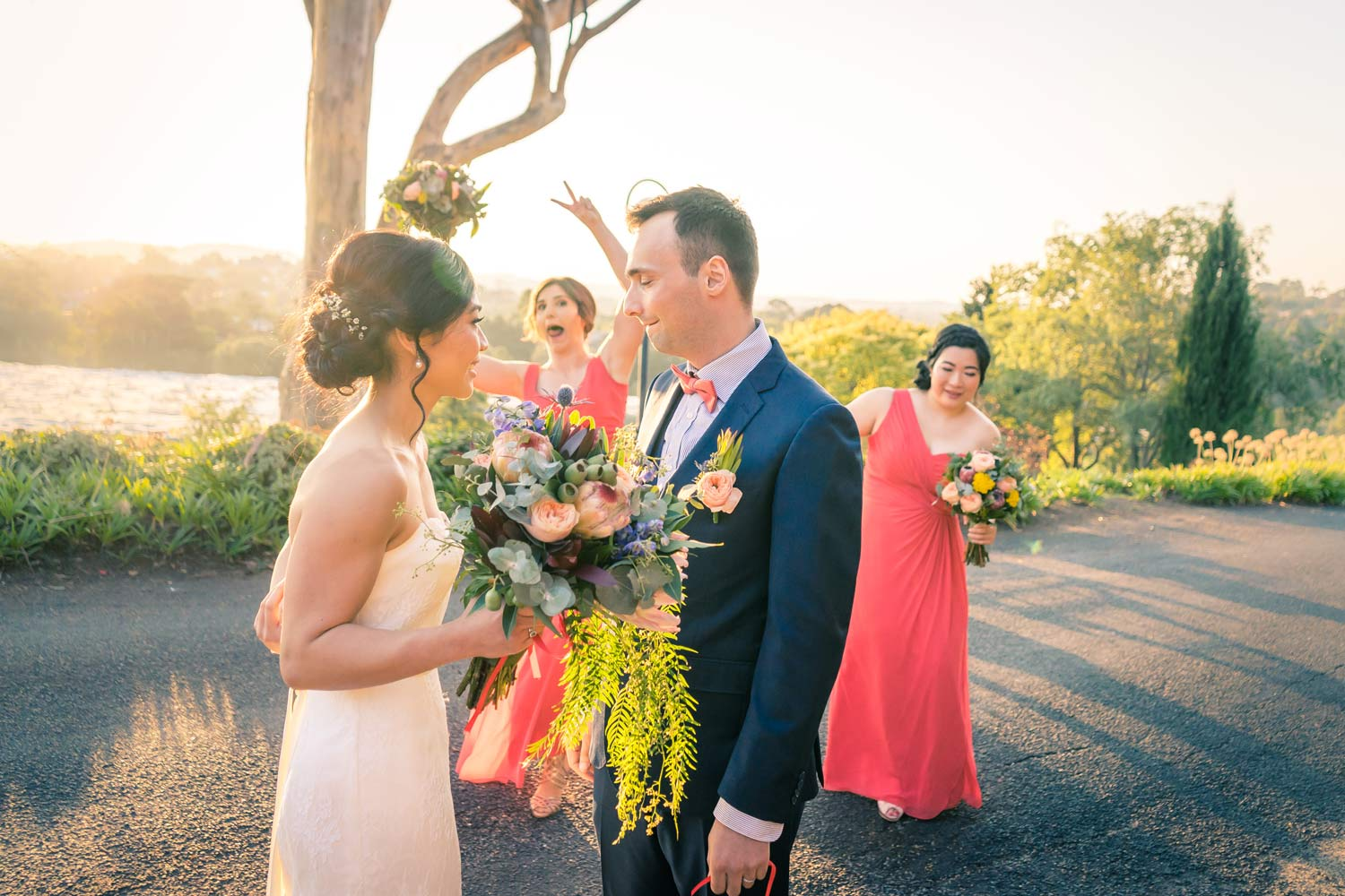 candid moment of wedding ceremony in Yarra Valley captured by Melbourne wedding photographers Black Avenue Productions