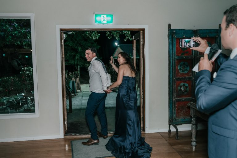 rustic wedding reception candid photos at Immerse Yarra Valley Australia