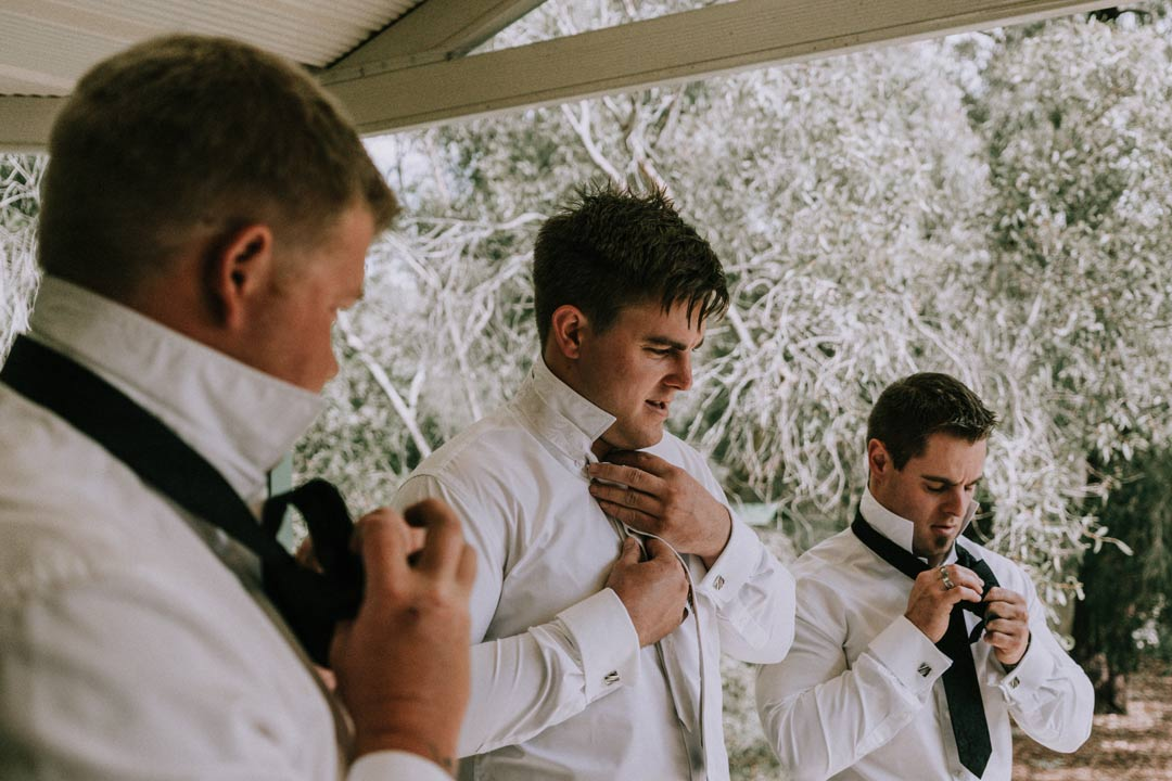 Mount Martha groom and groomsmen getting ready for their wedding