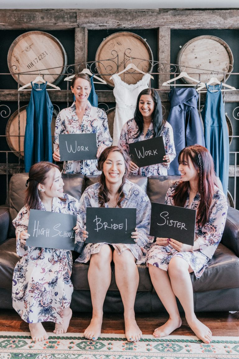 Bridal party photo goal rustic style