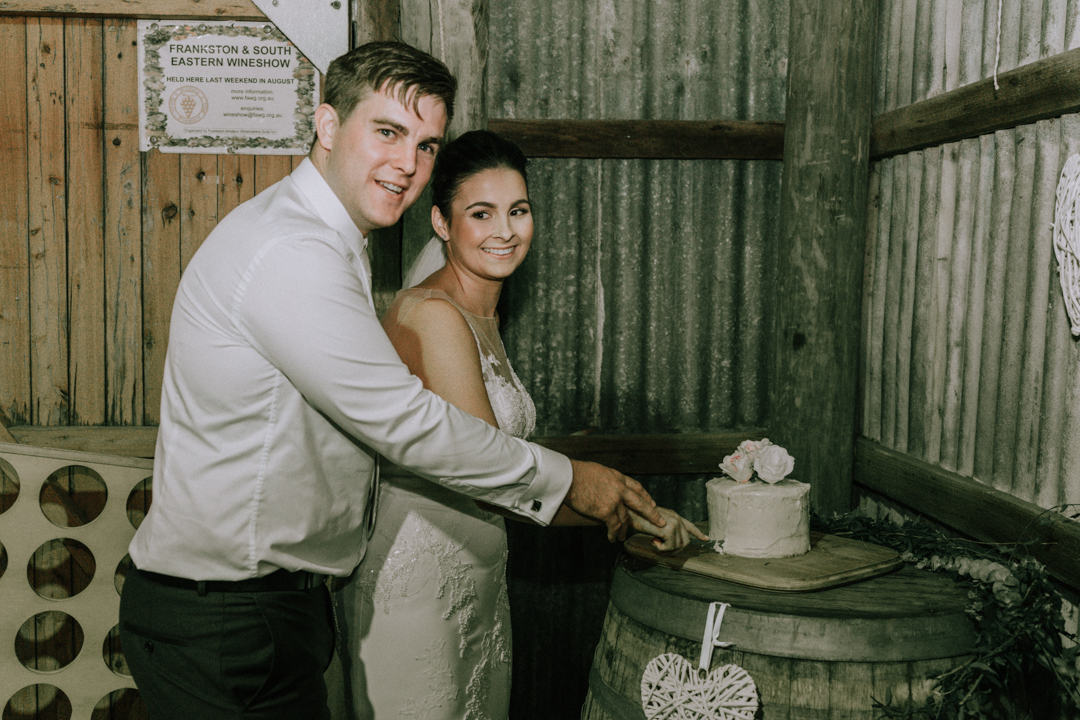 Rustic Barn Wedding Reception Venue At Mount Martha The Briars