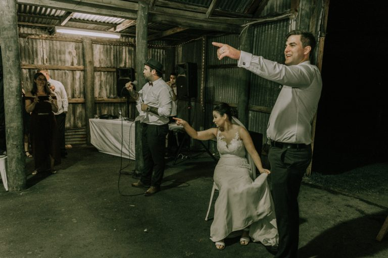 rustic barn wedding reception venue at Mount Martha The Briars Homestead Mornington Peninsula 12