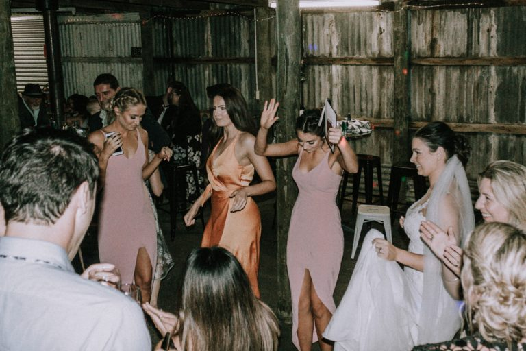 rustic barn wedding reception venue at Mount Martha The Briars Homestead Mornington Peninsula 9