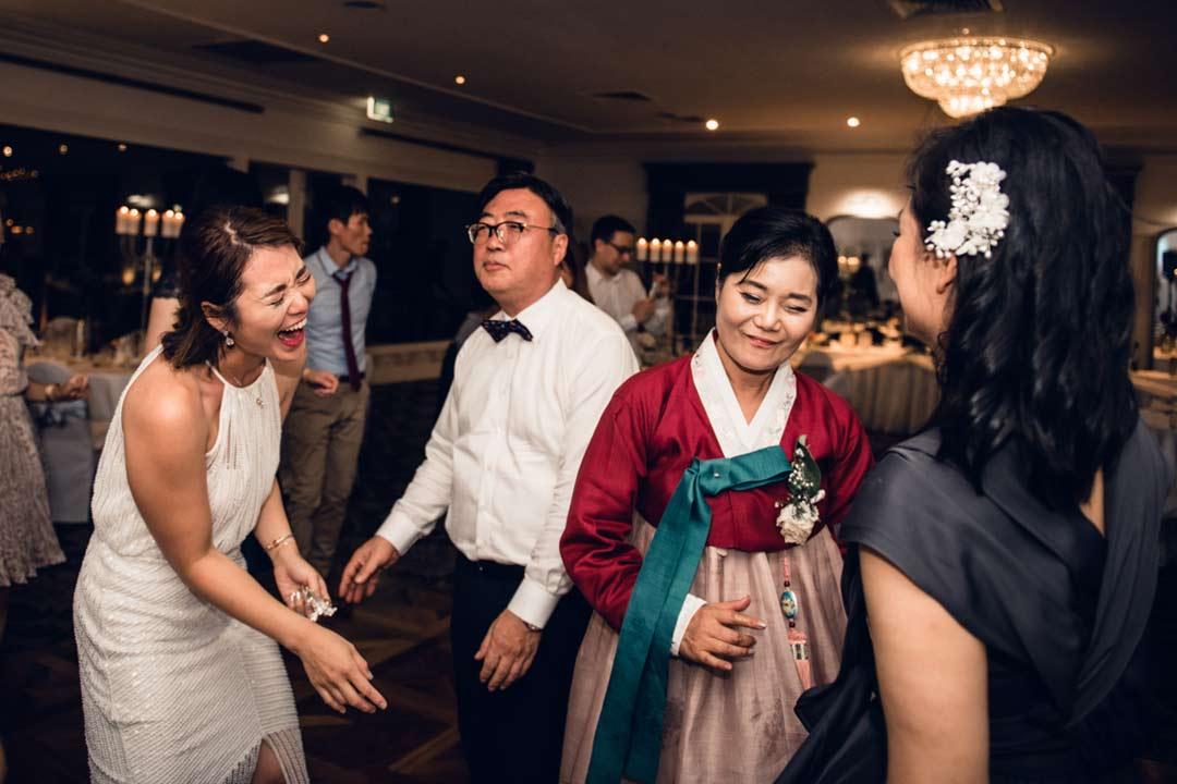 bride dancing with parents at Ballara Receptions