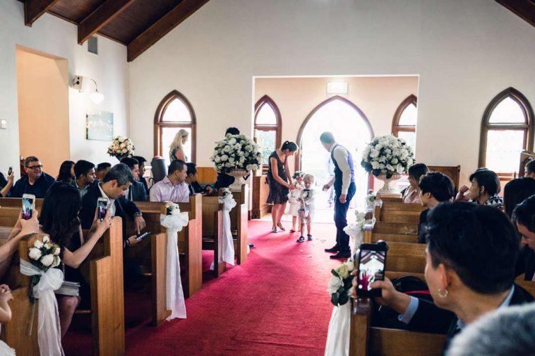 Melbourne church wedding ceremony 1
