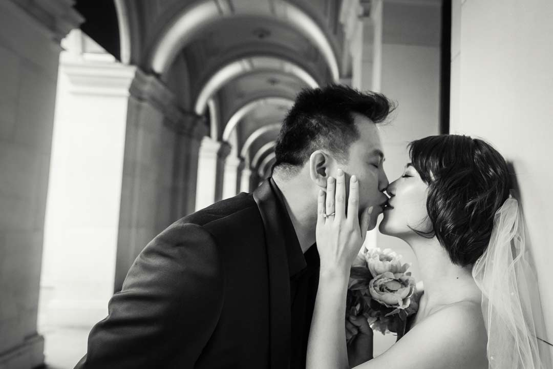 black and white engagement photography sample in Melbourne St Kilda