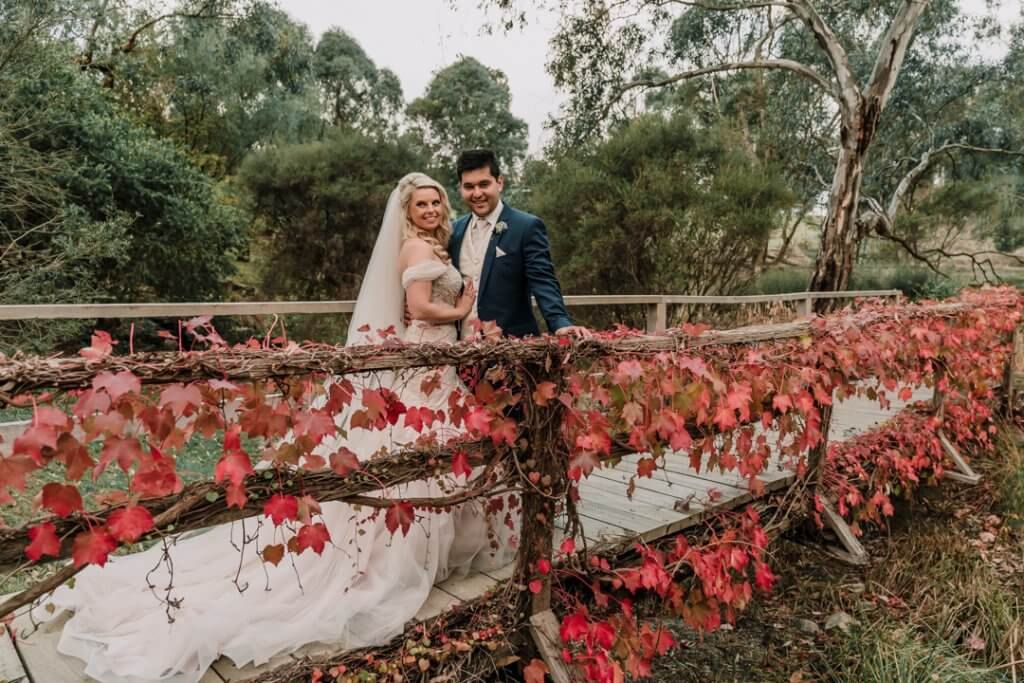 Happy Melbourne couple Amanda and David got married at Inglewood Estate Wedding photo captured by Derek Chan from Black Avenue Productions