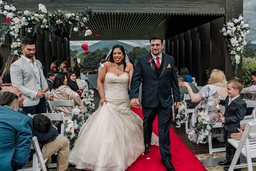 Melbourne couple married at their country club wedding on September 29, 2018 with 80 guests at RACV Healesville Country Club in Victoria.