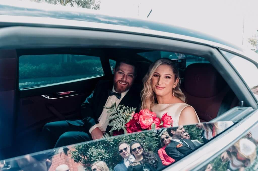 Limbo taking Melbourne couple Kat and Stu to their Royal Melbourne Yacht Squadron wedding