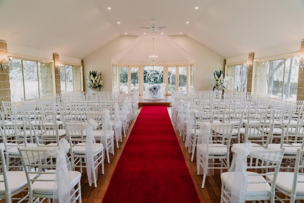 photo of Linley Estate chapel for a 2 days wedding event by Black Avenue Productions