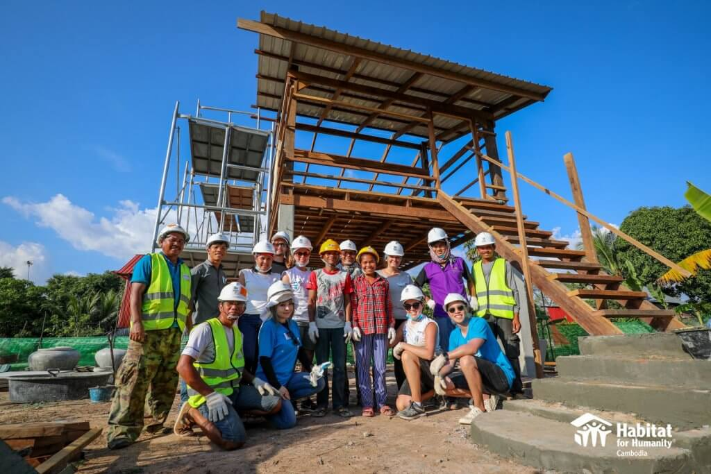 Day two of Habitat for Humanity Cambodia big build project with Black Avenue Productions team 2019