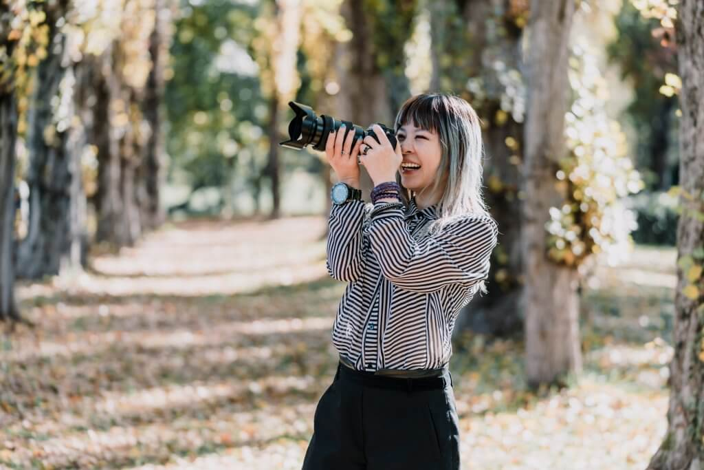 Expert wedding photographer interview by Polka Dot Bride magazine with Lowina Blackman from Black Avenue Productions in Melbourne Australia forest