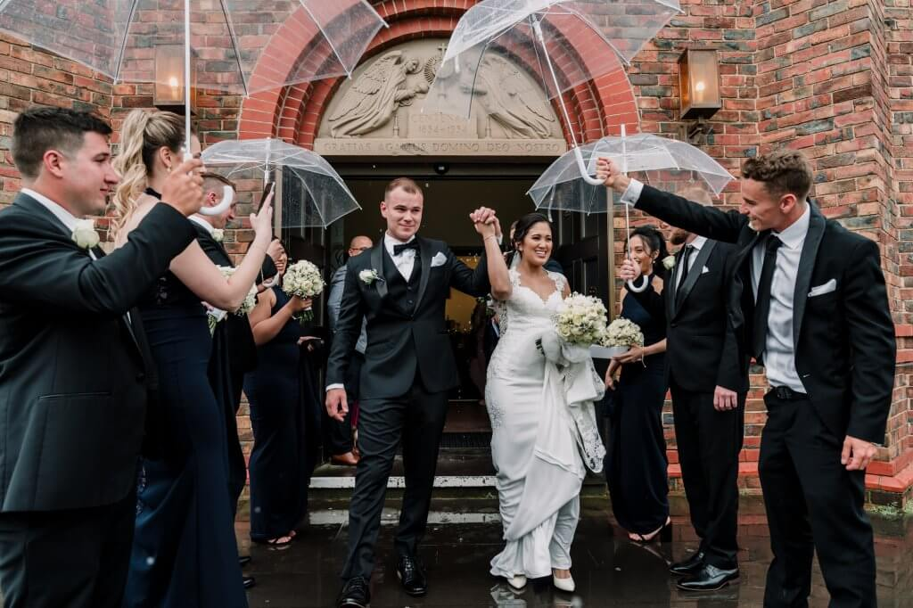 Melbourne couple got married at Manor on High wedding venue celebration photo by Black Avenue Productions