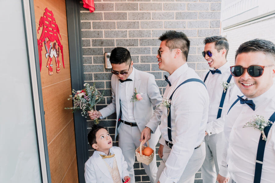 Groom and Groomsmen in action