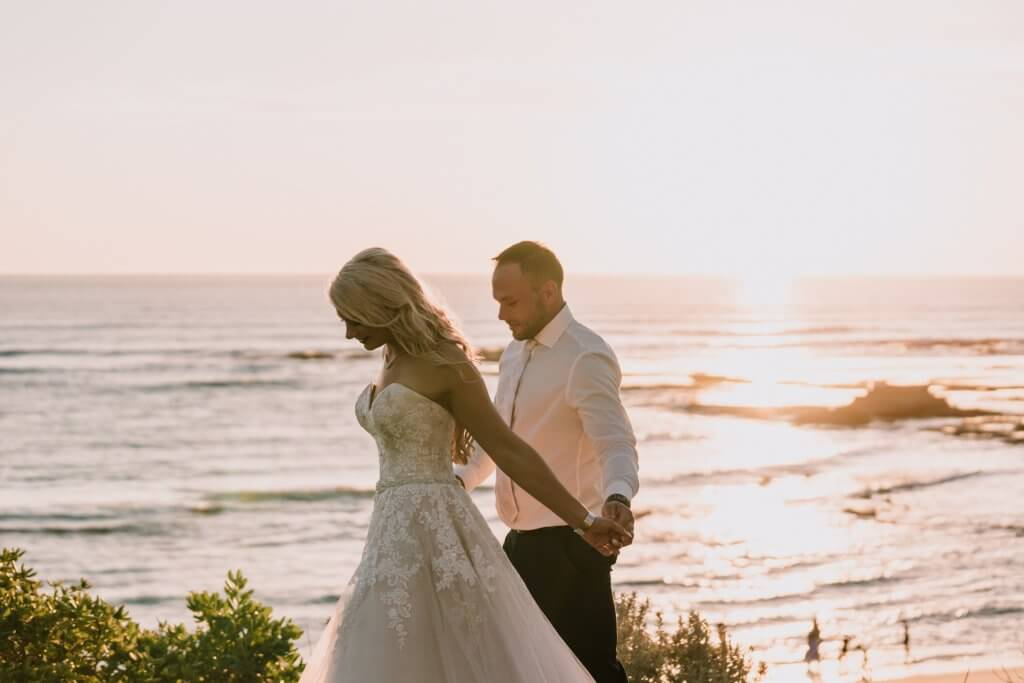 golden glow wedding photography shot by Black Avenue Productions