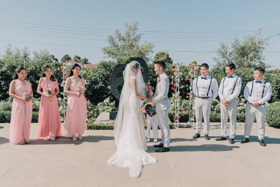 Groom and Bride in wedding ceremony