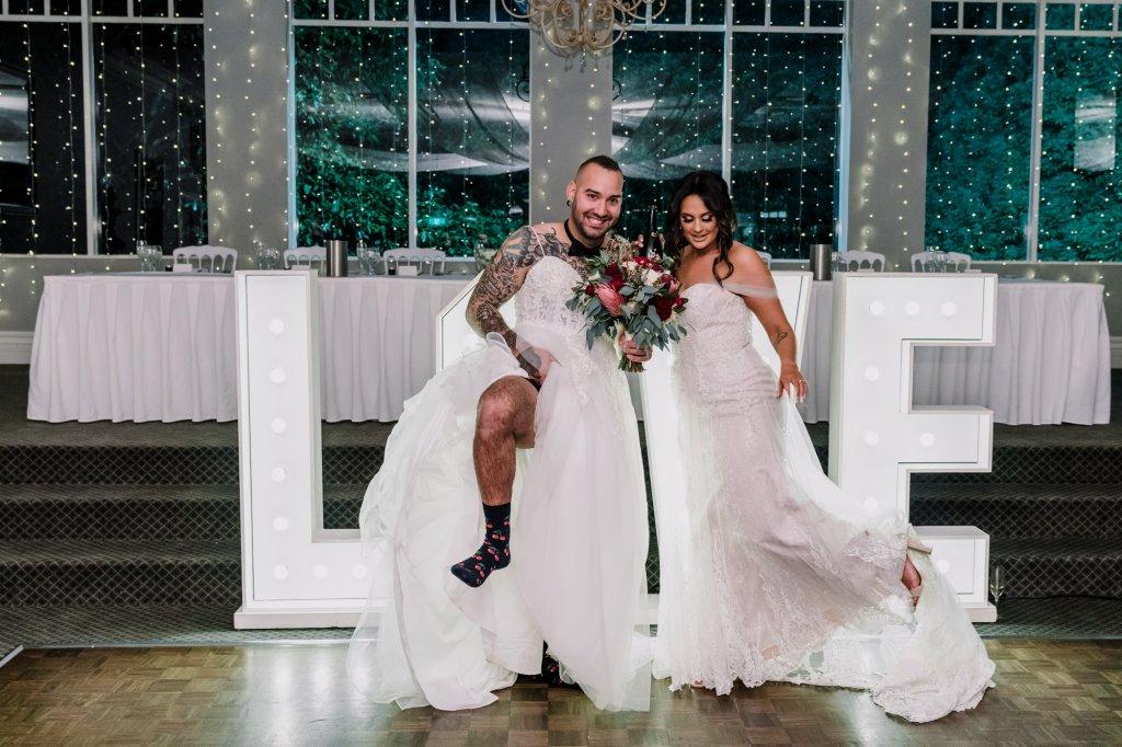 groom wear bridal gown for wedding photo idea 2021