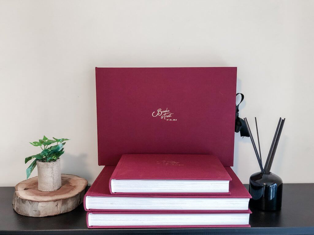 Wedding Albums (Maroon) by Black Avenue Productions