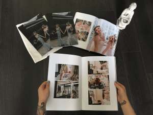 professional printed wedding album by black avenue production