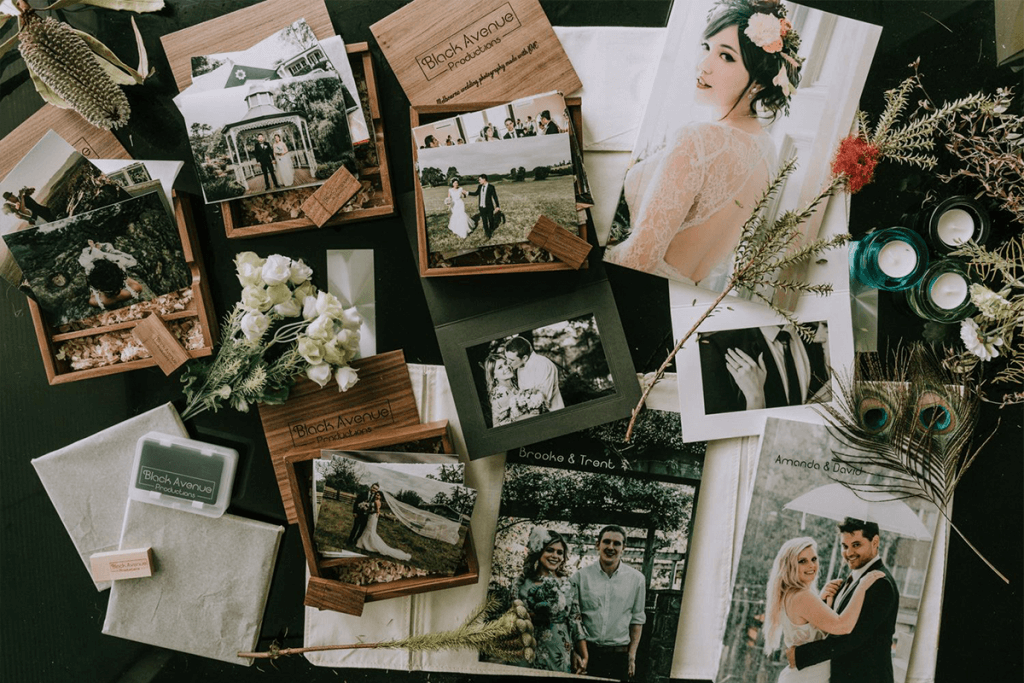 professional printed swedding album by black avenue productions