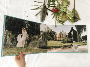 professional printed wedding album by black avenue productions