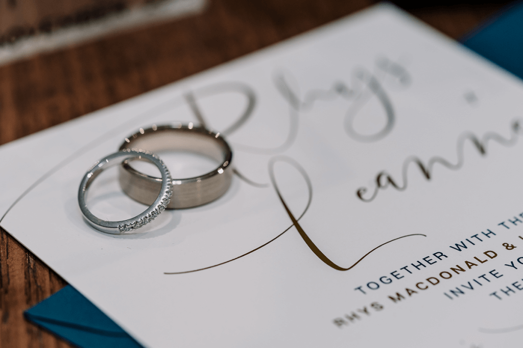 wedding ring detail shot by black avenue productions