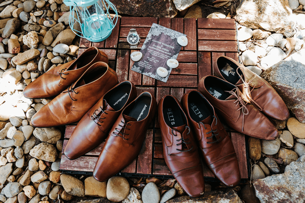wedding shoes for groom and groomsmen shot by blackavenue productions