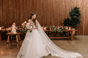 Beautiful asian bride in a magical city wedding in melbourne shot by black avenue productions