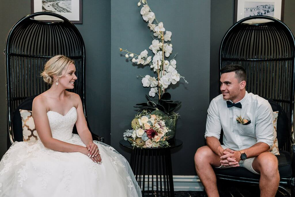"""""""Our top priorities were for us both to be us. Wear what we want to wear, do what we want to do and spread all our love with everyone,"""" explains the bride."""