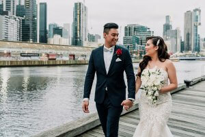 Romantic modern wedding in Victoria. Australia bshot by Black Avenue Productions