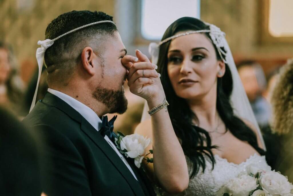 emotional moments in a wedding ceremony photos shot by black avenue productions