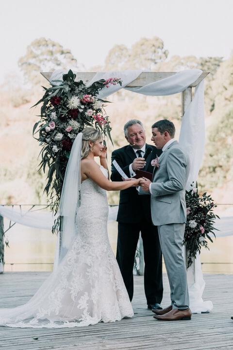 beautiful wedding ceremony photos shot by black avenue productions