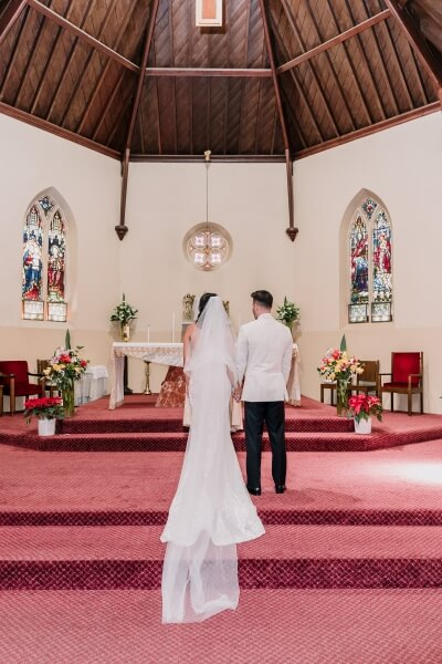 church wedding in St Brigid's Catholic Church