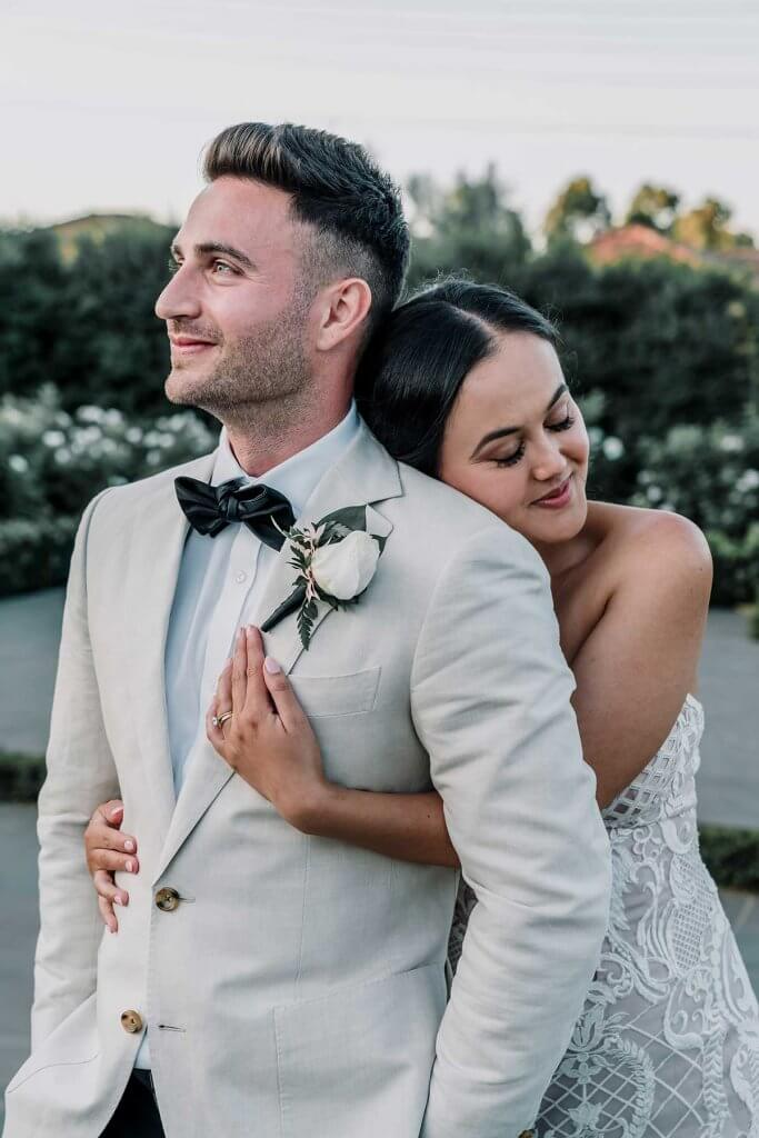 married couple photo inspiration in meadowbank estate wedding photo shot by Black Avenue Productions