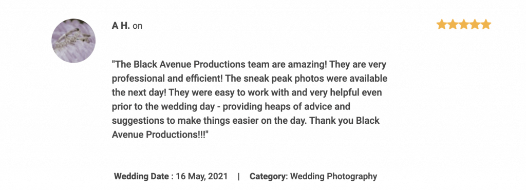 Andrew and Steph Testimonial for Black Avenue Productions